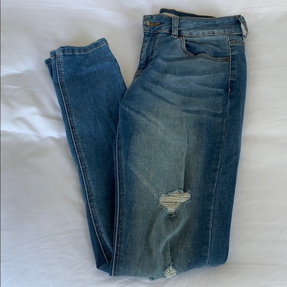 Mid-Rise Blue Jeans